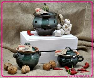 pojemniki ceramiczne, wyroby ceramiczne, pojemnik ceramiczny na czosnek