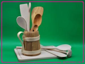 galanteria drewniana, drewniane akcesoria kuchenne, przybory kuchenne z drewna
