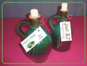 karafki na oliwę i ocet, karafki gliniane polskie, butelki gliniane rękodzieło