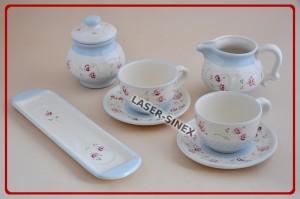naczynia ceramiczne ręcznie zdobione