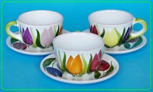 ceramika ręcznie zdobiona, ceramika hand painted, naczynia w stylu folk