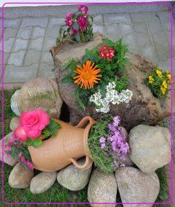 donice na taras, mini ogródki, pomysł na ozdobę tarasu